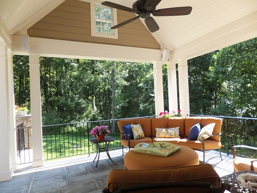 Hunterdon County, NJ Architect covered porch