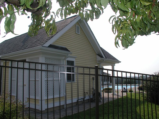 Achitect Hunterdon County NJ outdoor shower cabana