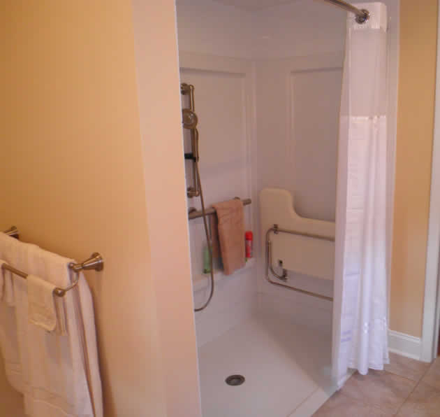 Handicap Bathroom Vine a new handicapped accessible bathroom for a person who uses a